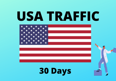 30 day traffic from USA (united state of america) for 1 month country targeted traffic