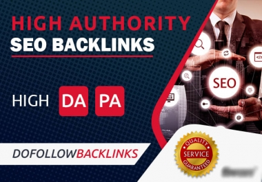 I Will Manually Create 40 High DA Backlink With Pr8-Pr9 Domain For Rank A Website On Google
