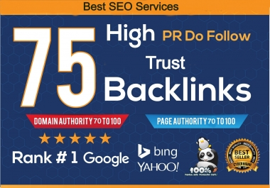 I will provide DR 60 to 75 backlinks for offpage seo