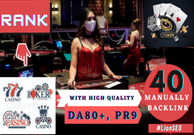 Rank Your Online Casino , Poker, Gambling , Gaming Site On Google 24 hours Service