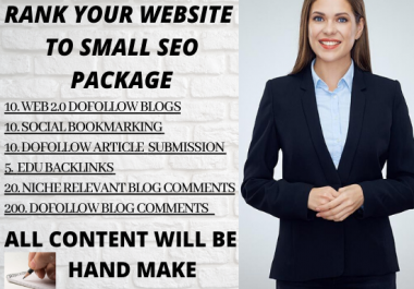 Increase your website Ranking with one week small SEO Link building package