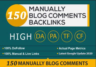 I will provide 150 Blog Comments High DA PA, DoFollow Backlinks