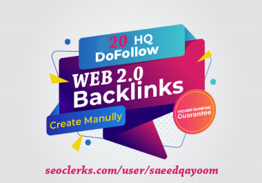 I will build 20 web 2.0 backlinks to boost website ranking