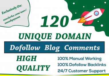 I will rank website with 120 Unique Domain Dofollow Blog Comments