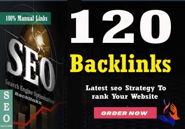 Build 120 HomePage Backlinks All Dofollow High Quality Backlinks