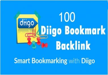 Skyrocket 100 Diigo Bookmark backlink DA30+ Best Result rank your website on google.