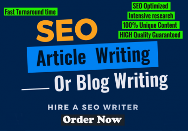 I will do 500 Word SEO article writing, blog post writing, content writing or Product Writing