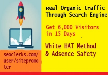 Get Real Organic Traffic Through Google[search engine} 400+ daily for 15 Days