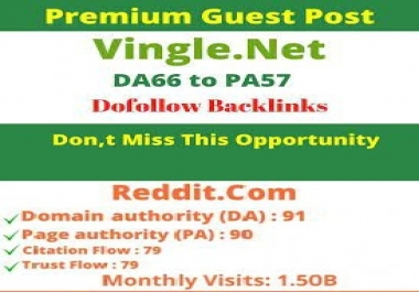 write and publish 500 words guest post on reddit and vingle.net dofollow permanent backlinks