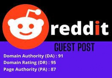 one very very strong DR 94 REDDIT permanent niche relavent post backlink