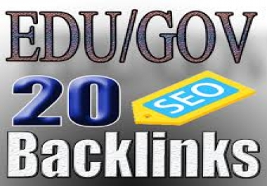 20 High Quality EDU and GOV Dofollow Backlinks with high DA and PA to boost your ranking on google