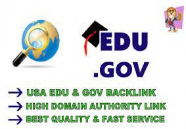 we provide 20 EDU and GOV Backlinks from high Authority Sites to get high ranking on SERP