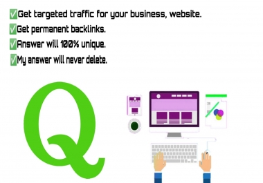 Provide 15 Unique Quora Answer get targeted traffic
