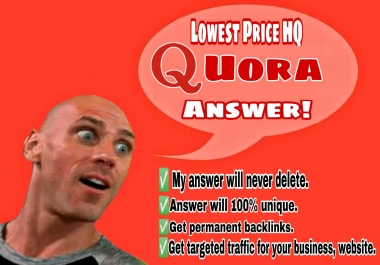 Promote your website with 50 High Quality Quora Answer to get targeted traffic