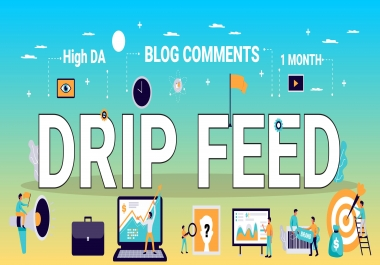 I will do 30 days daily drip feed 10 backlinks daily update