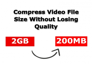 I Will compress video file size without losing quality