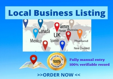 25 USA,UK,Australia Local Citation/Local Listing Business Directory Submission
