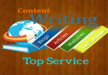 1500 words unique content writing for you website