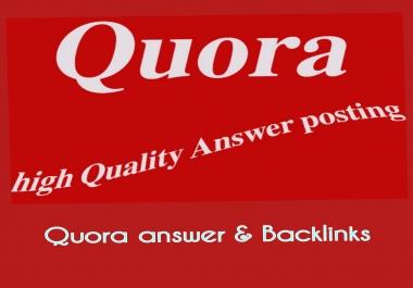 Rocket types promote your website unique 30+ quora answer backlinks