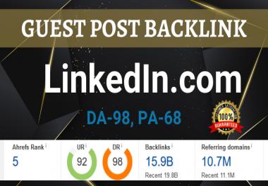 Write and Publish Guest Post on LinkedIn.com DA98