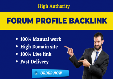Create 20 High Authority Forum Profile Backlinks/ forum posting manually