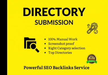 Manually 100 Instant Approve Directory Submissions live links