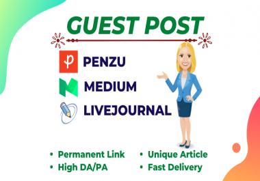 I will write and publish high DA Guest Post