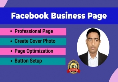 Facebook Business Page Creation and optimization
