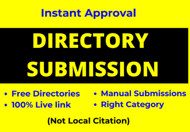 100 Directory Submission live links manually from Instant Approve Directories