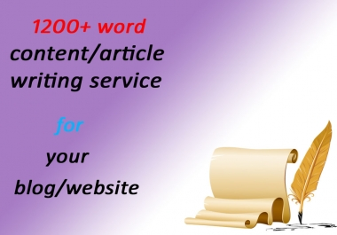 i will provide 1200+ word content/article within 2 days