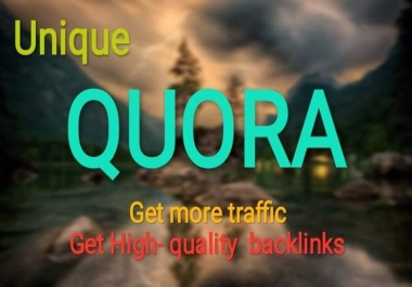 Boost your website on Quora 30+ with High quality Backlinks, Traffic
