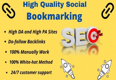 I will provide 25 high authority social bookmarking SEO backlinks for your website ranking.