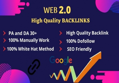 I will provide 15 top high quality web 2.0 backlinks for your website