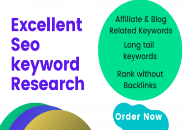 I will do Excellent Seo Keyword Research for your site