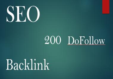 I will Provide 200 Dofollow Backlinks mix platforms