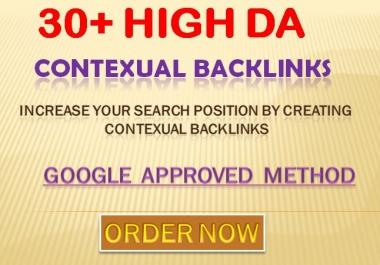 Providing 30 Manually web 2.0 High Quality Contextual Backlinks