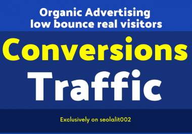Drive unlimited organic adverts web traffic visitors to any website