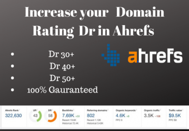 Increase your Domain Rating in Ahrefs upto 50 plus