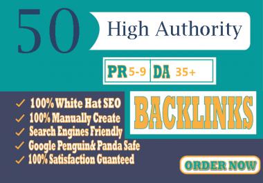 Build MANUALLY DA 35+ PA35+ web 2.0 50 Powerful PBN 50 unique site