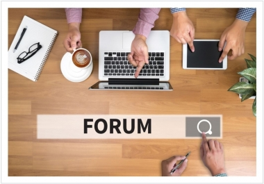 500 Forum profile back links within 48 hour's