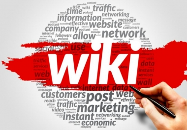 100 Wiki articles contextual back links within 24 hours