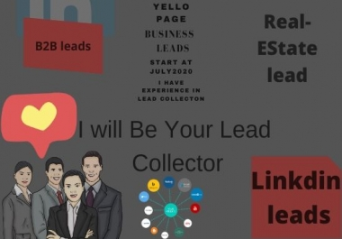 I will Collect B2B leads for you