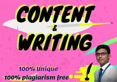 500+ Words SEO Friendly Plagiarism and Copy escape free Article writings for your Web