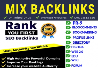 I will build google safe mix SEO backlinks for your website