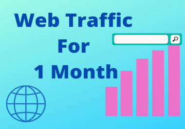 I will serve you UNLIMITED and genuine real Website TRAFFIC