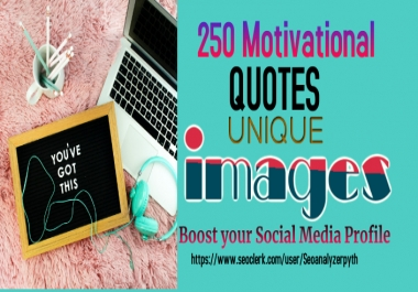 I will design 250 inspiring images with @Username logo quote images .