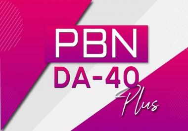 Build 7 PBN DA 40+ Dofollow Backlink
