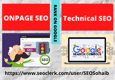 On Page SEO by yoast and Technical SEO of wordpress site