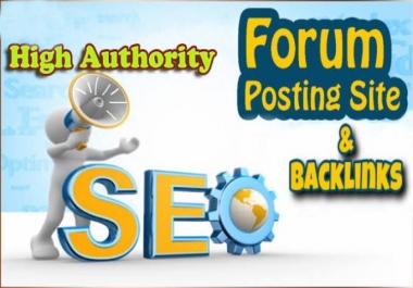 Create High Quality 110+ Forum Profile Backlinks