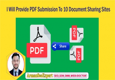 I Will Provide PDF Submission To 10 Document Sharing Sites